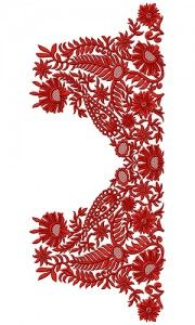 9840 Neck Embroidery Design