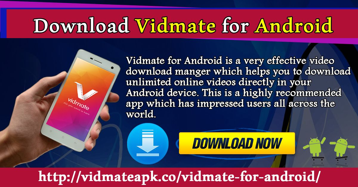 Vidmate for Android is a very effective video download