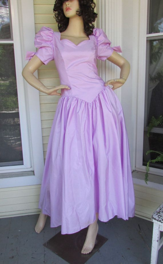 Vintage Lilac 80 S Bridesmaid Dress On Etsy Com Wedding Dress Costume Bad Bridesmaid Dresses Prom Dresses With Sleeves