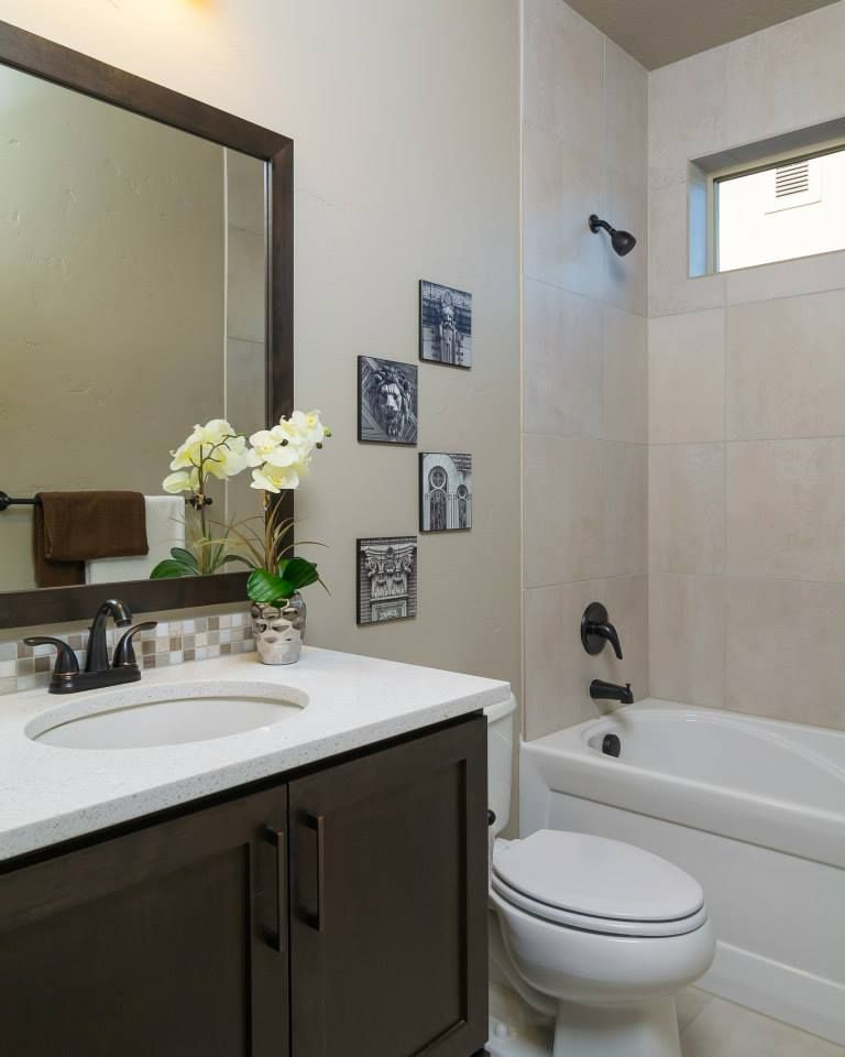 Simple Home Staging For The Bathroom. Perfect.