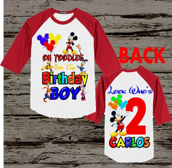 Mickey Mouse Clubhouse Birthday Shirt Mickey Mouse Shirt Front And Back Mickey Mouse Birthday Shirt Mickey Mouse Clubhouse Birthday Birthday Shirts