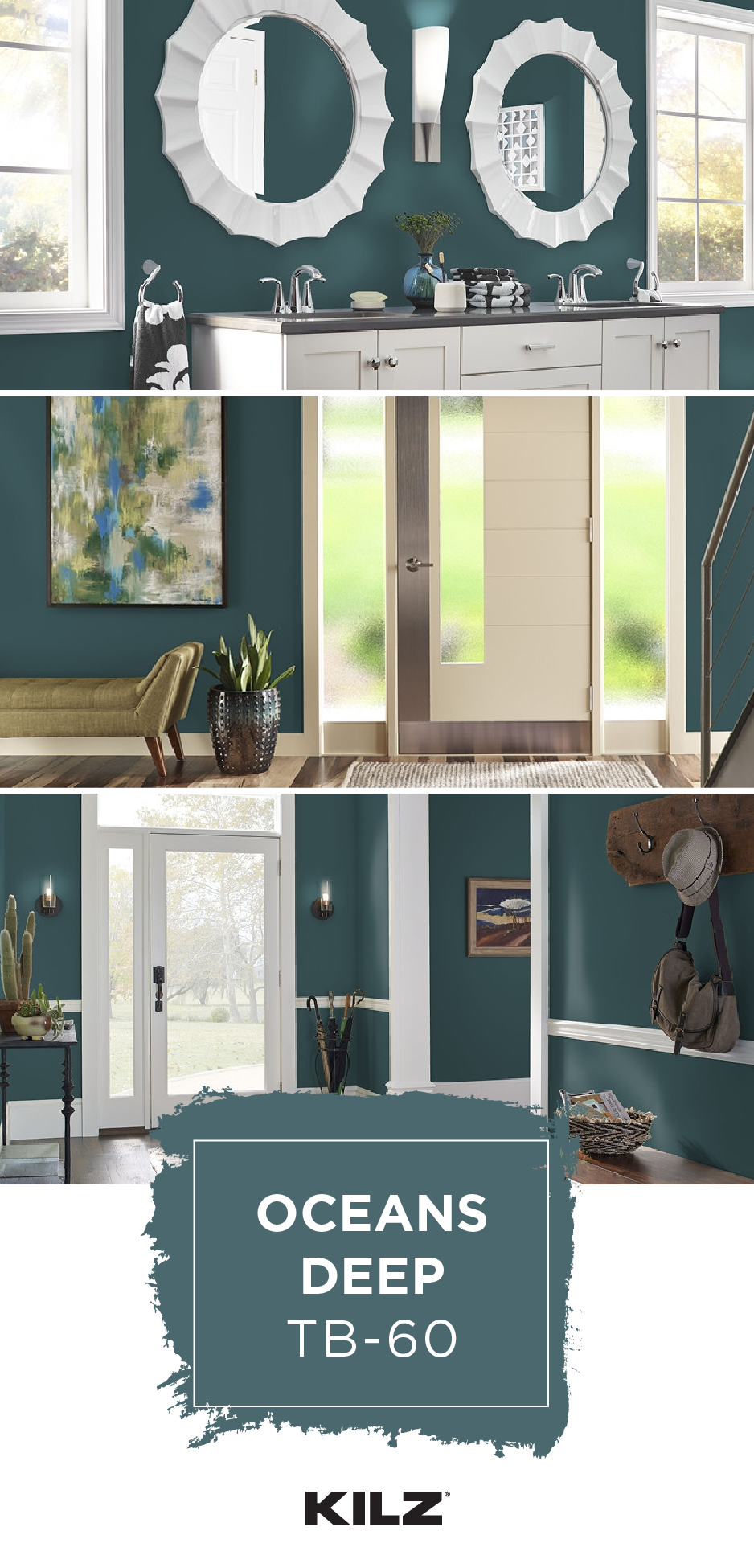 If You Re Looking For A Paint Color That You Can Get Lost In Dive Into The Dark Blue Gr Blue Green Bathrooms Exterior Paint Colors For House Room Paint Colors