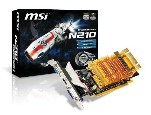 MSI Geforce 210 512 MB DDR2 PCI-Express 2.0 Graphics Card ...