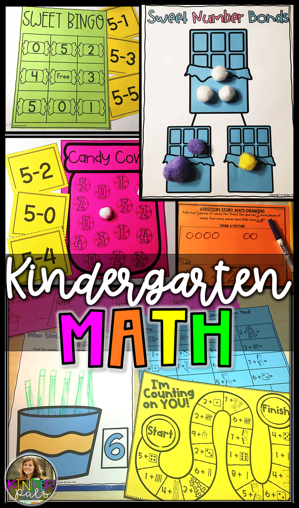 Kindergarten Math Centers for the Year- Common Core Kinder Math ...