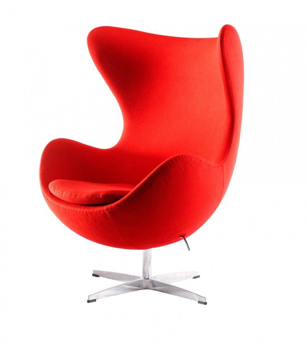 Cashmire nojatuoli, värivaihtoehtoina punainen ja tummanharmaa