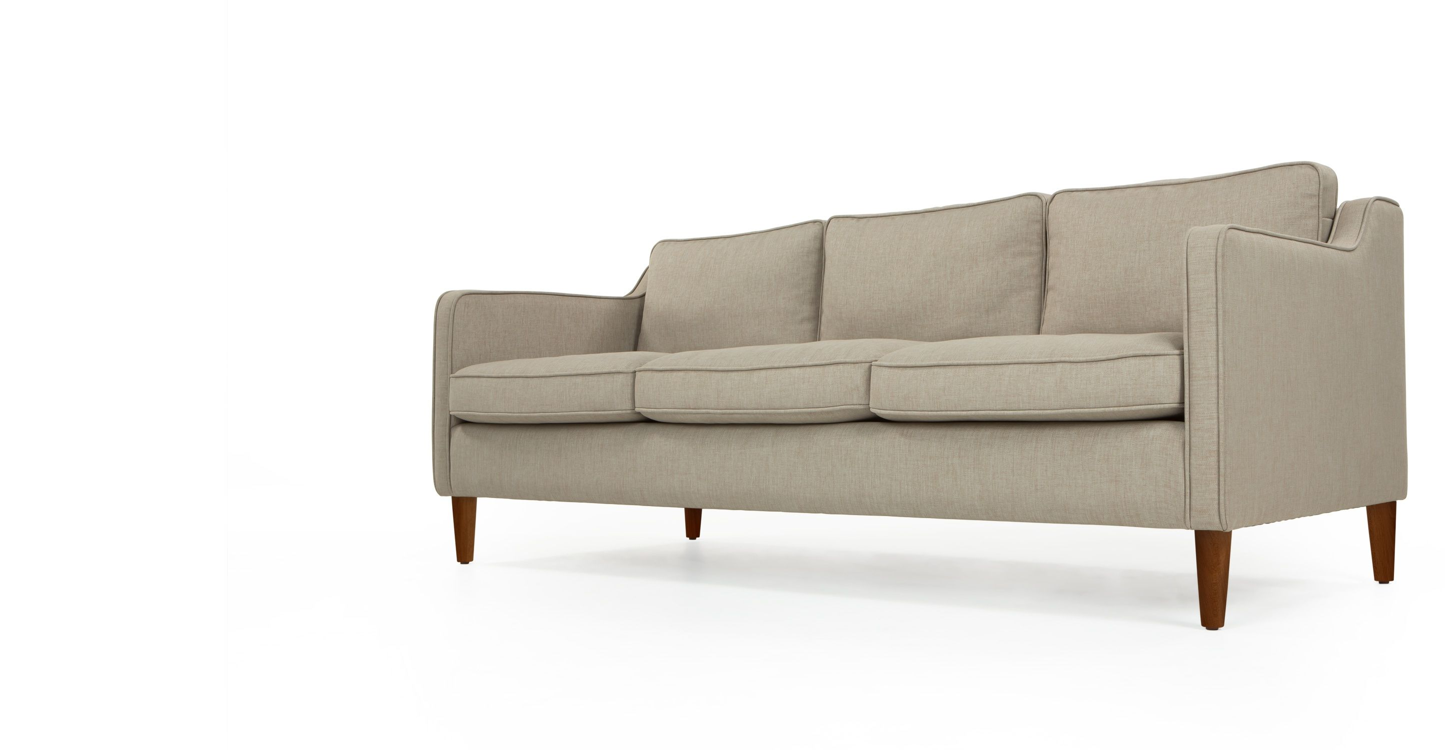 Walken 3 Seater Sofa Calico Beige I N T E R I O R S