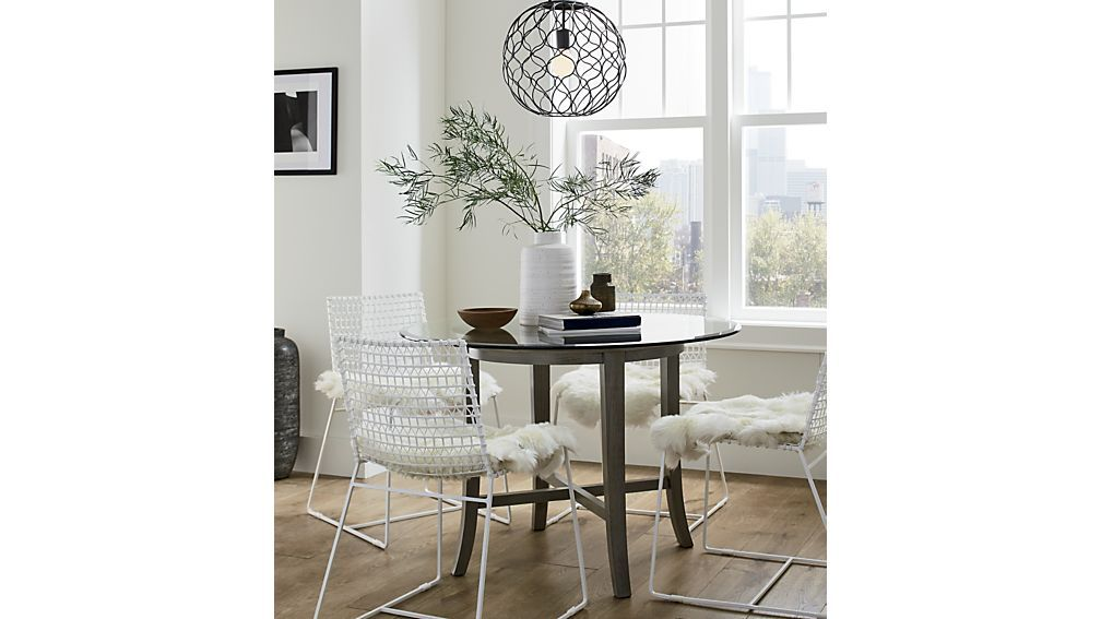 Halo42ingreyrounddiningtablejl18 Grey Round Dining Table Metal