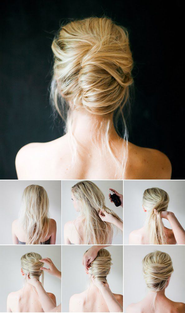 Braids Twists And Buns 20 Easy Diy Wedding Hairstyles Offbeat Bride Diy Wedding Hair Guest Hair Wedding Guest Hairstyles