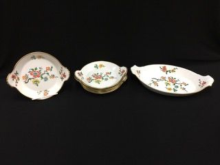 Apilco France Porcelain Serving Dish With 6 Individual Dishes