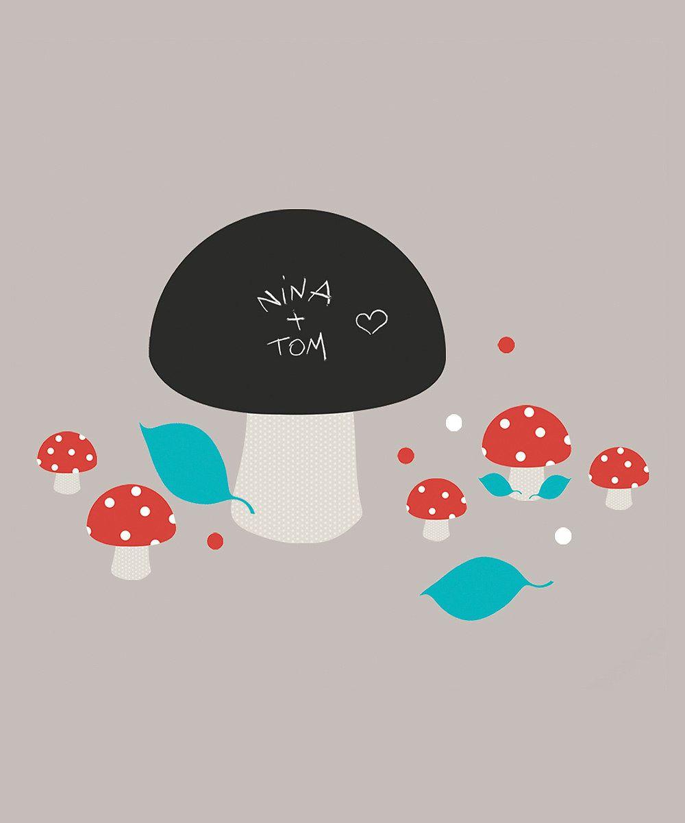 Forest Fun Kids Dcor Nouvelles Images Mushrooms Chalkboard