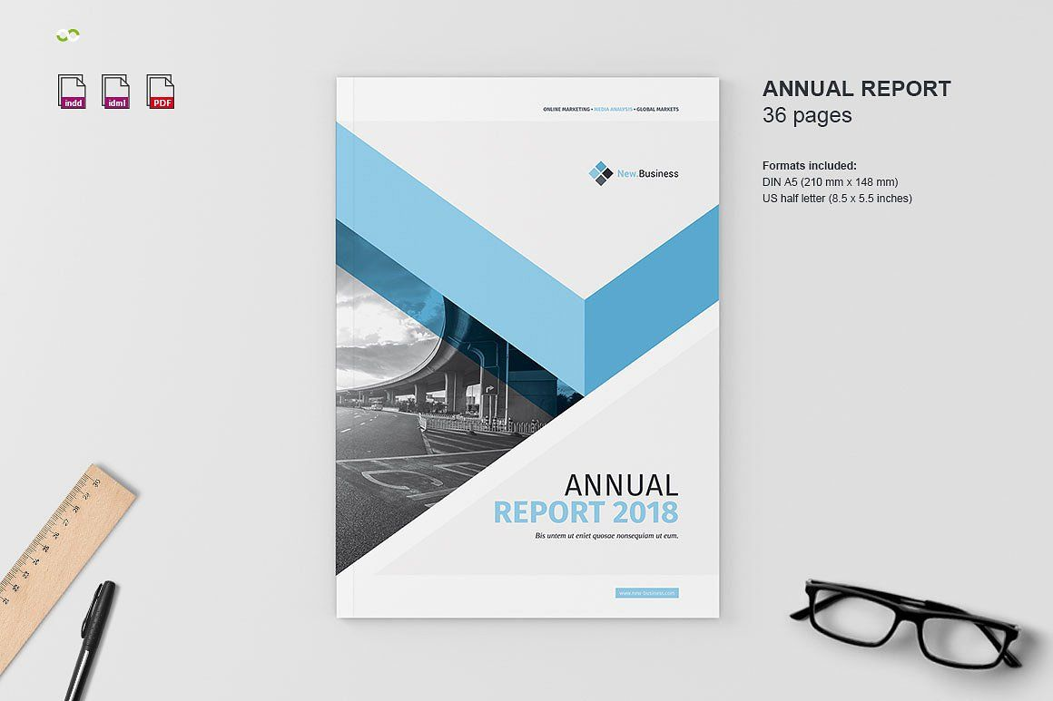 Annual Report  By Imagearea On Creativemarket  Free Poster