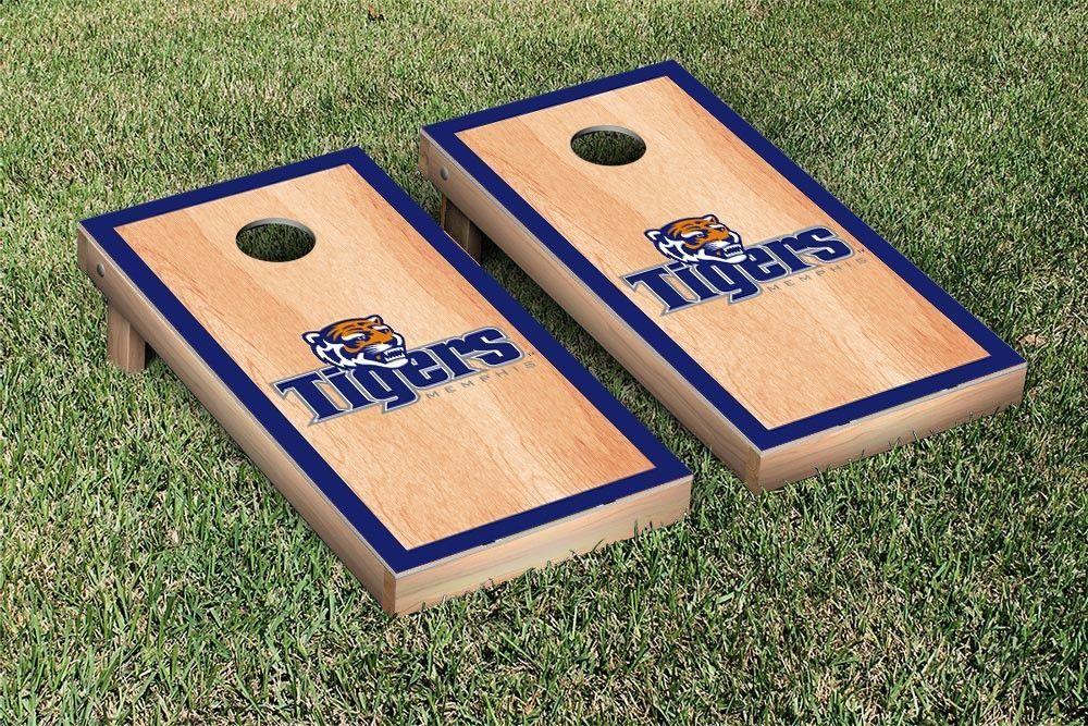 Hard Court w/ Border Memphis Tigers Cornhole Game Set