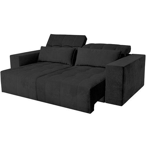 Super Sofa 2 Lugares Reclinavel E Assento Retratil Strauss Sued Cjindustries Chair Design For Home Cjindustriesco