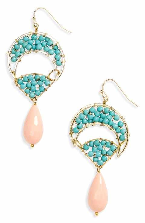 Panacea Howlite Drop Earrings