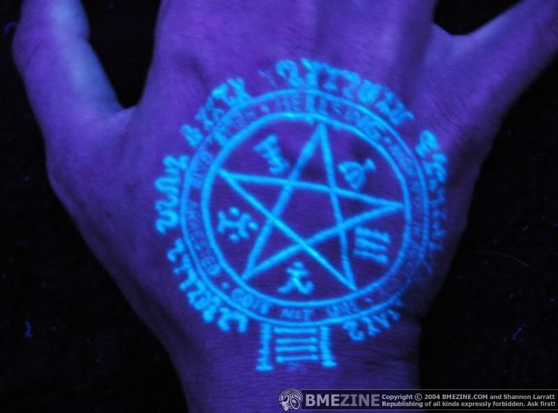 UV Tattoo This Is A Cool Design But Youll Have To Get Used To - 30 creative black light tattoos you can see only under uv light 8 is what i call amazing