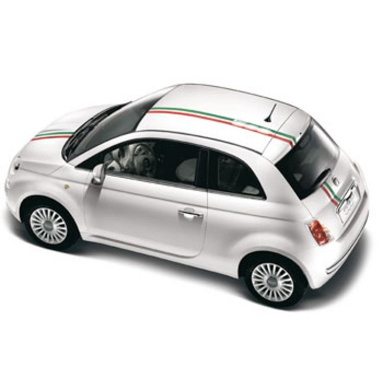 Fiat 500 Graphics Italia Bonnet And Roof Stripes With Sunroof