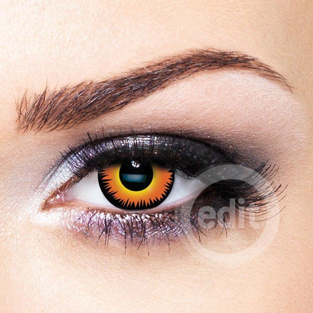 Contacts: Orange Eye Contact Lenses