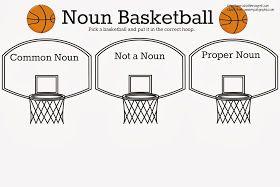 Common Noun vs. Proper Noun Basketball {Free Printable
