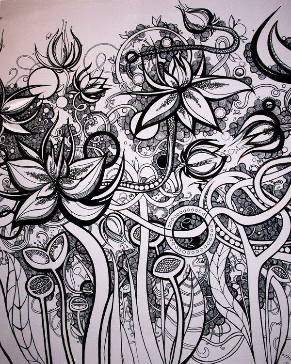Doodle Blomster Com Imagens Producao De Arte Doodle Art