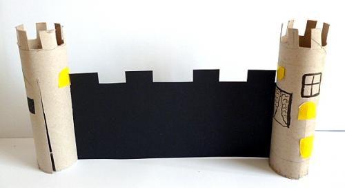 pferd aus papierrollen basteln, ritterburg, ritter u. pferde aus papierrollen - papier basteln, Design ideen