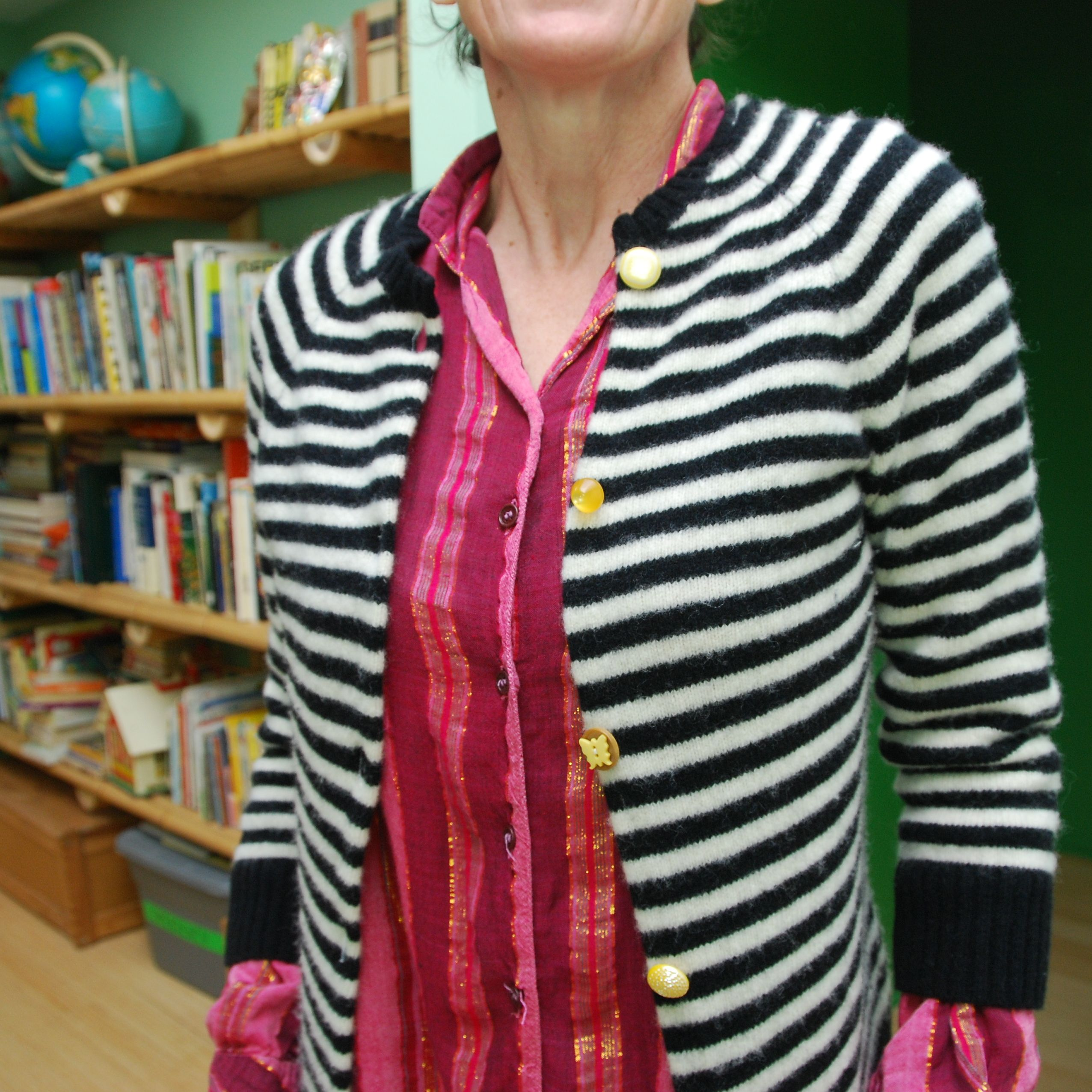 turn a pullover sweater into a cardigan!