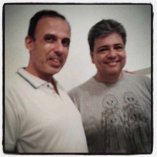 Expo 40Anos+5 - receber um amigo é uma alegria ! E receber a LugBrasil é um privilégio... valeu pela presença, Antonio !... #playmobil #playbrasilmobil #playmobil40years #mhn #museuhistoriconacional #lego #lugbrasil
