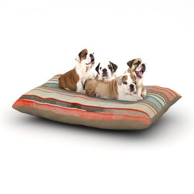 """East Urban Home CarolLynn Tice 'Patton' Dog Pillow with Fleece Cozy Top Size: Large (50"""" W x 40"""" D x 8"""" H)"""