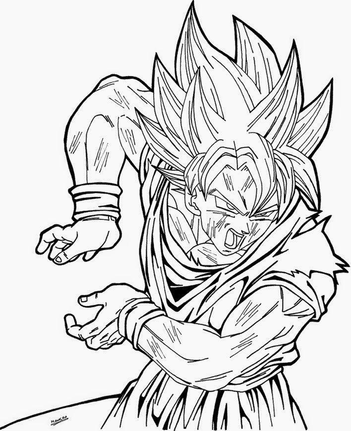 Desenhos Do Dragon Ball Z Para Colorir E Imprimir Desenhos