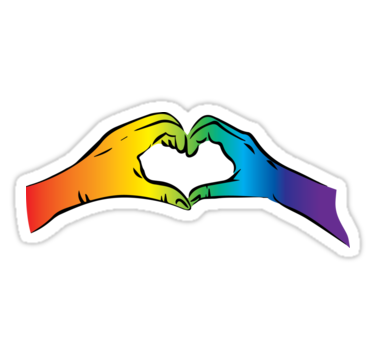 Gay rights sticker