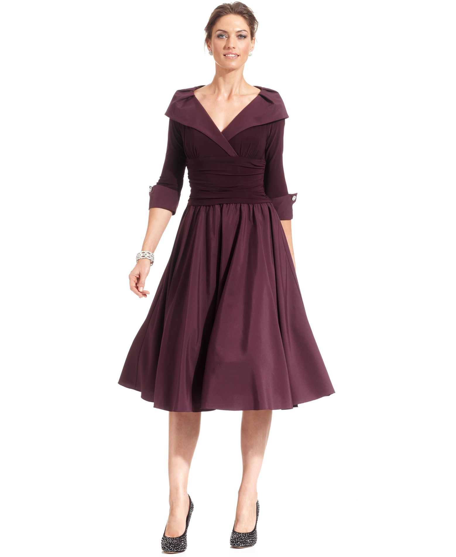Jessica Howard Portrait Collar A-Line Dress - Dresses - Women ...