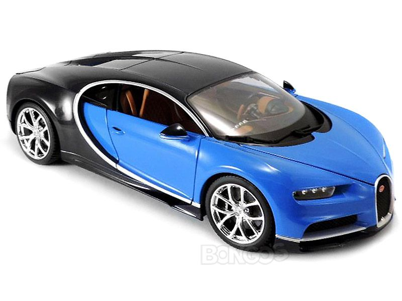 bugatti chiron 1 18 scale bburago diecast model blue bugatti veyron chiron type55. Black Bedroom Furniture Sets. Home Design Ideas