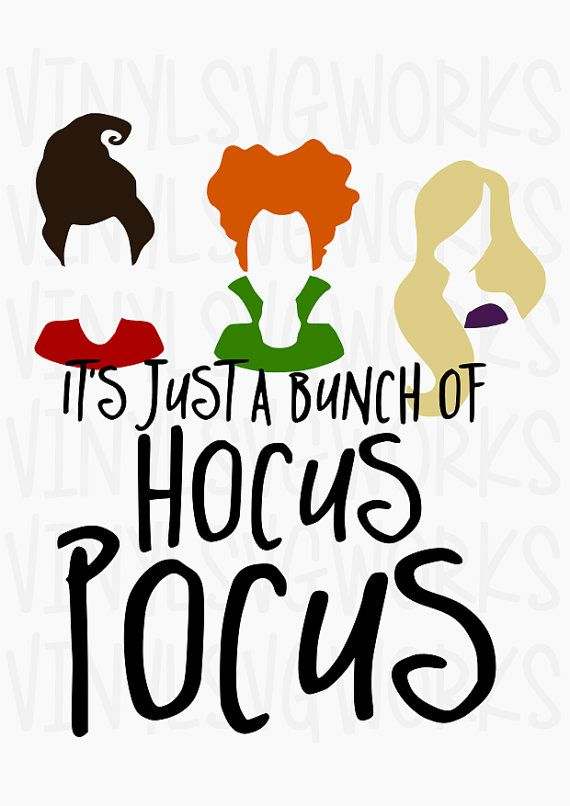 97441004 Hocus Pocus SVG FILE | Halloween and Fall stuff | Halloween vinyl ...