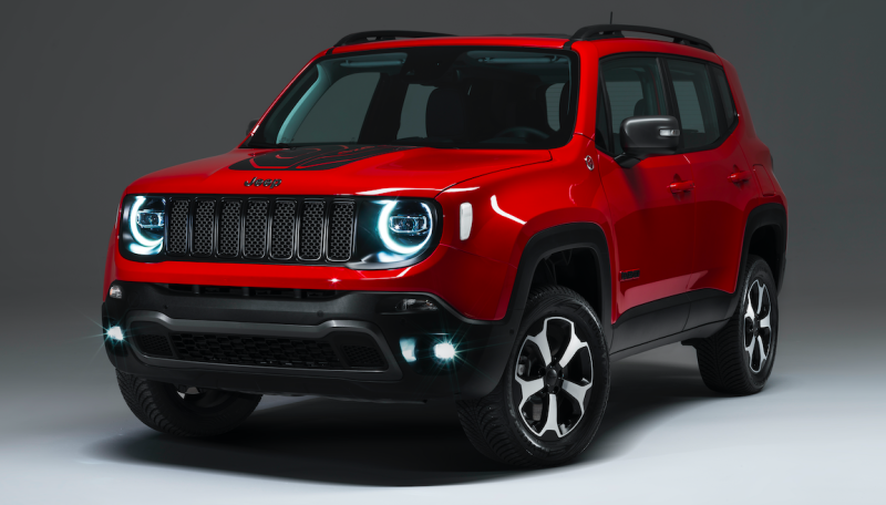 The Very First Plug In Hybrid Jeeps Claim Up To 240 Hp And 31 Miles Of Ev Range Jeep Jeep Renegade Jeep Renegade Trailhawk