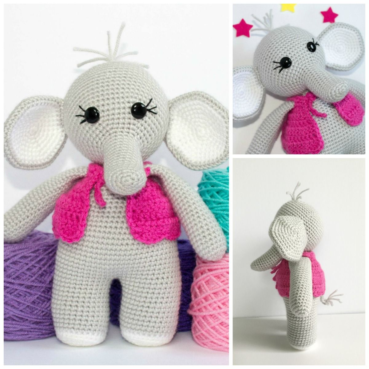 This free elephant crochet pattern has been a long work in progress ...