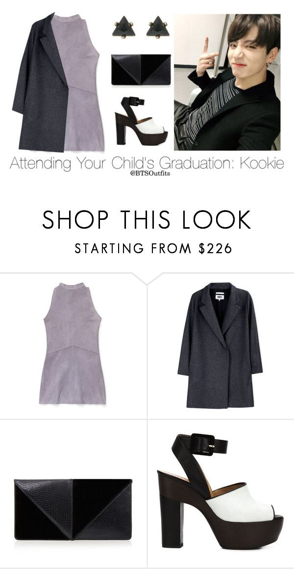 """Attending Your Child's Gradation: Jungkook"" by btsoutfits ❤ liked on Polyvore featuring Rebecca Minkoff, MM6 Maison Margiela, UN United Nude and ALEXA WAGNER"