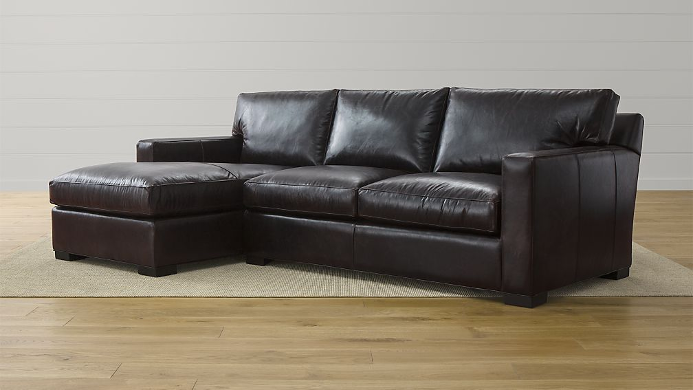 Axis Ii Espresso Leather Sectional Crate And Barrel 2 Piece Sectional Sofa Sofa Furniture Leather Sectional Sofas