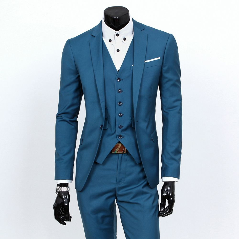 Suit jacket + Vest + trousers/ Three-piece sets / 2017 new men\'s one ...
