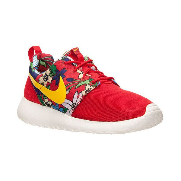 580104f79982 Nike Roshe One Shoes Floral Aloha Print University Red Tour Yellow... ( 165