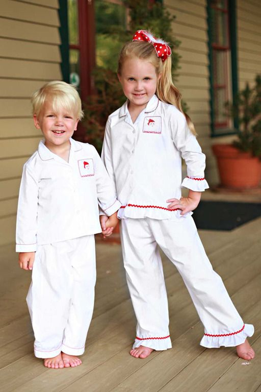 Southern Tots Smocked Santa Christmas Pajamas for Boys and Girls ...