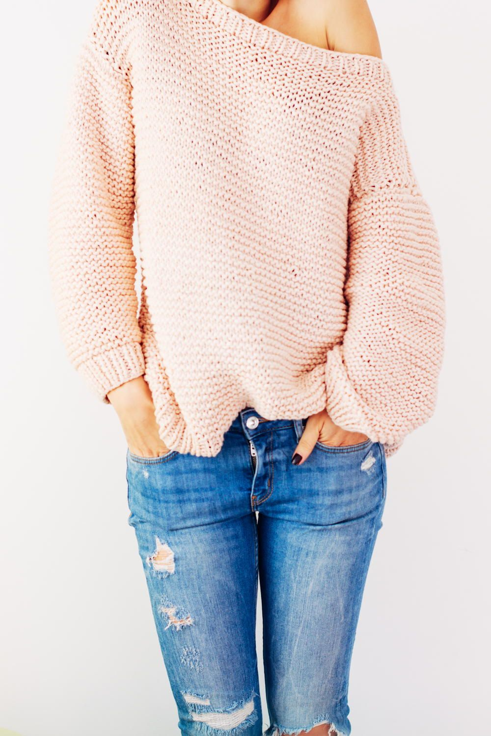 Peachy Keen Oversize Knitted Sweater Craft Ideas Pinterest