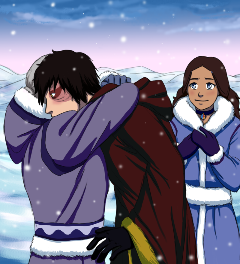 Gran Gran hugging Zuko... Honestly I pinned this for Katara's betrothal necklace... it's half water, half fire- it's really cool how detailed it is!