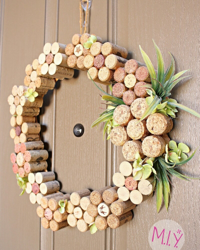 Photo of Summer Decor: Wine Cork Flower Wreath — Make It Yours with Melissa