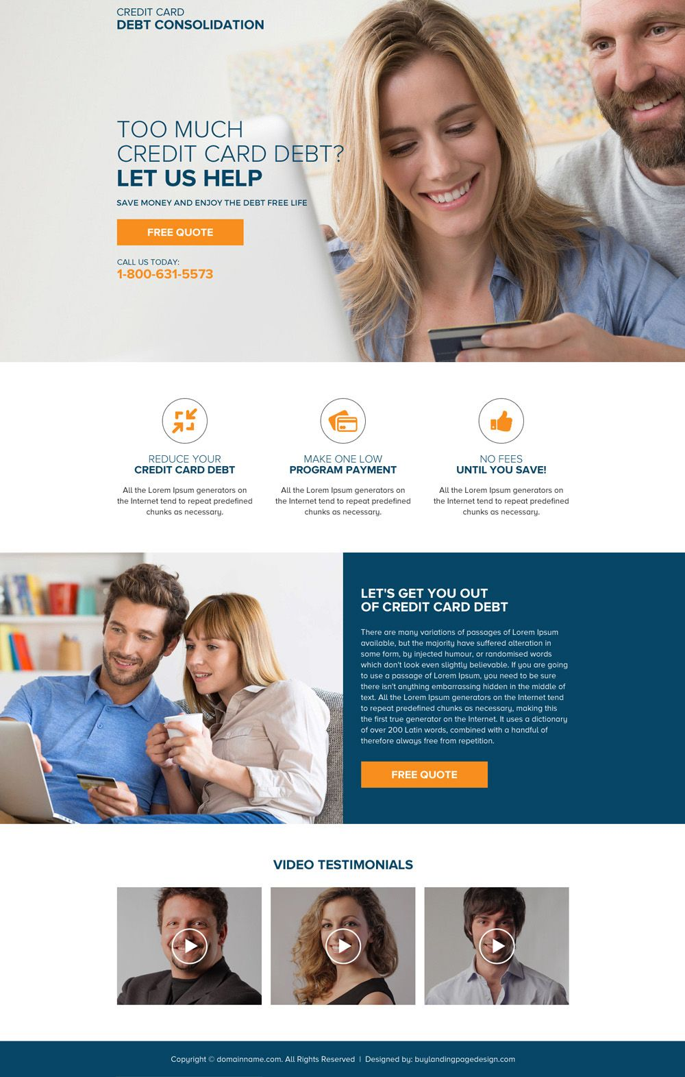 Generate Quality Leads With Our Modern And Latest Landing Pages Consolidate Credit Card Debt Credit Cards Debt Landing Page