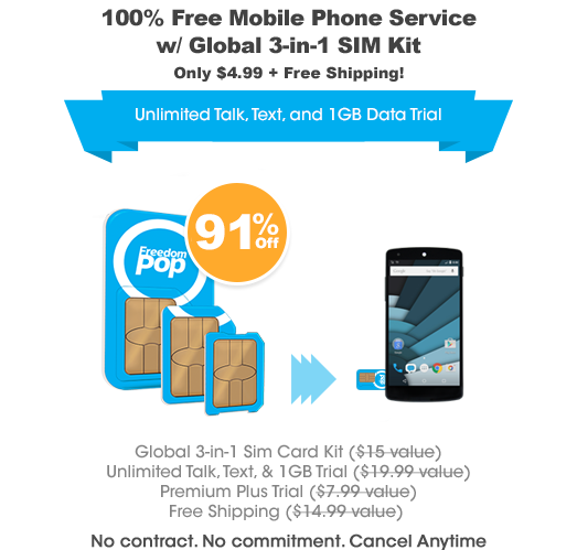 Phone & Plans from 0/month FreedomPop Phone