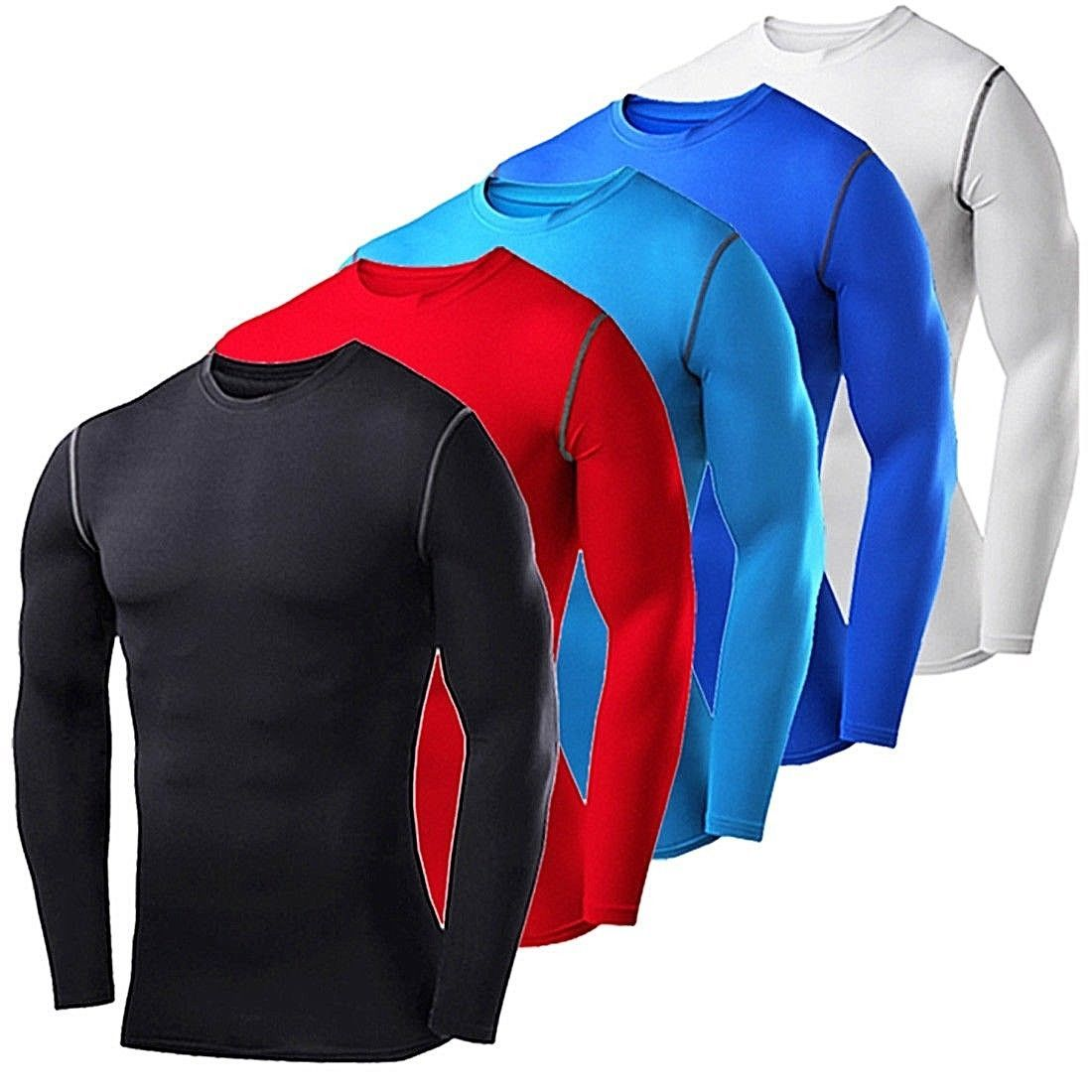 Men/'s Compression Tights Dri fit Tops Athletic Shirts Under Base Layers Wicking