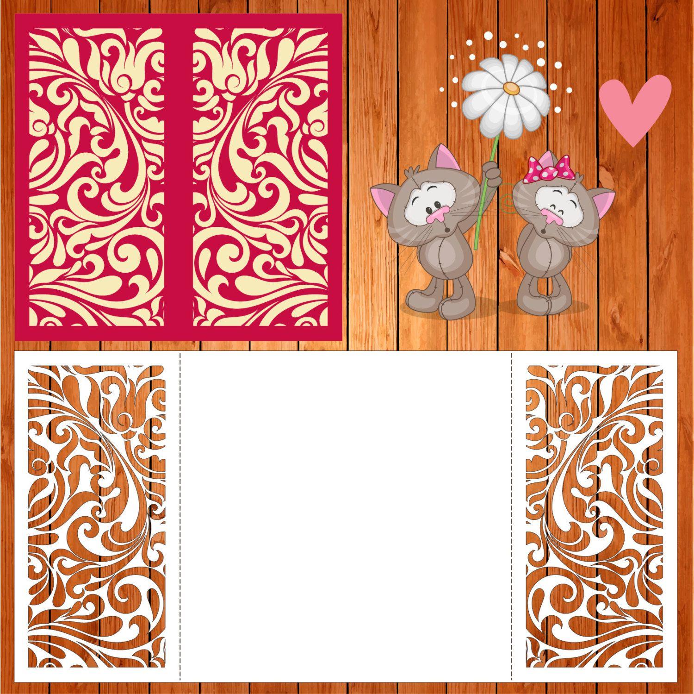 Wedding card invitation template Arabesque doors (studio V3, svg ...
