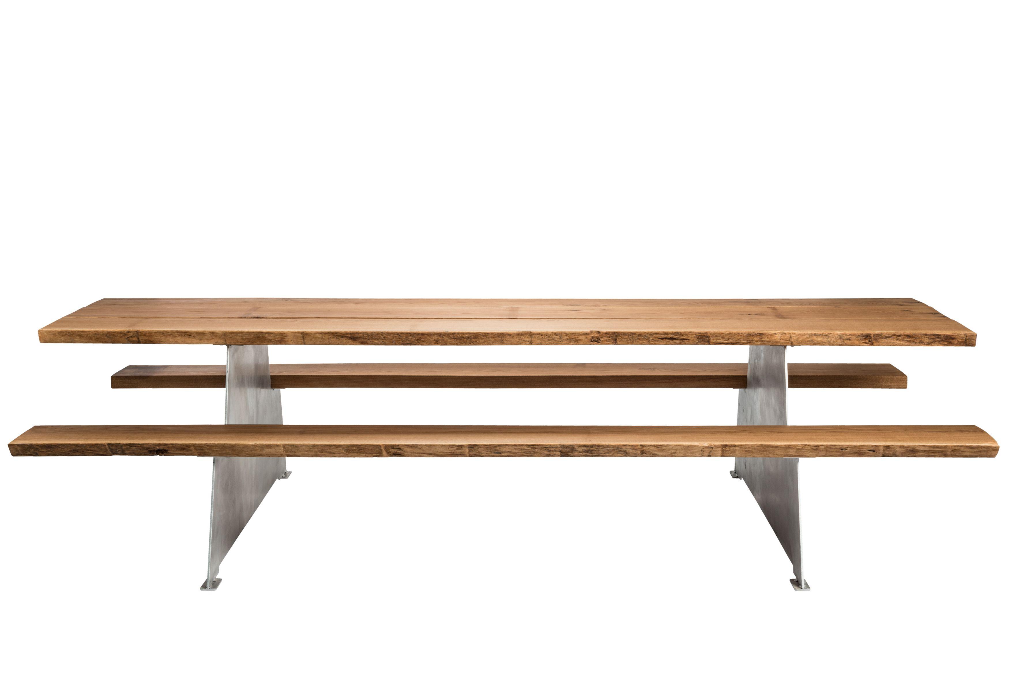 Luxurious Design Picnic Table In Oak Wood And Aluminium Design