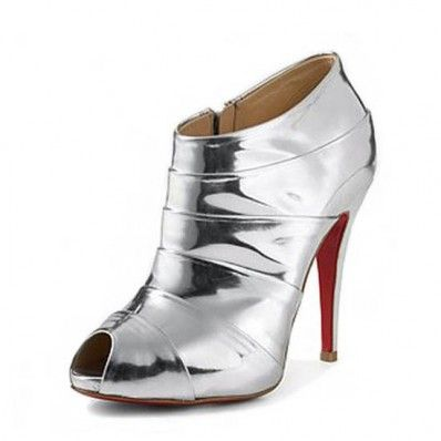 Christian Louboutin Robot 120 Ankle Boots Metallic Silver