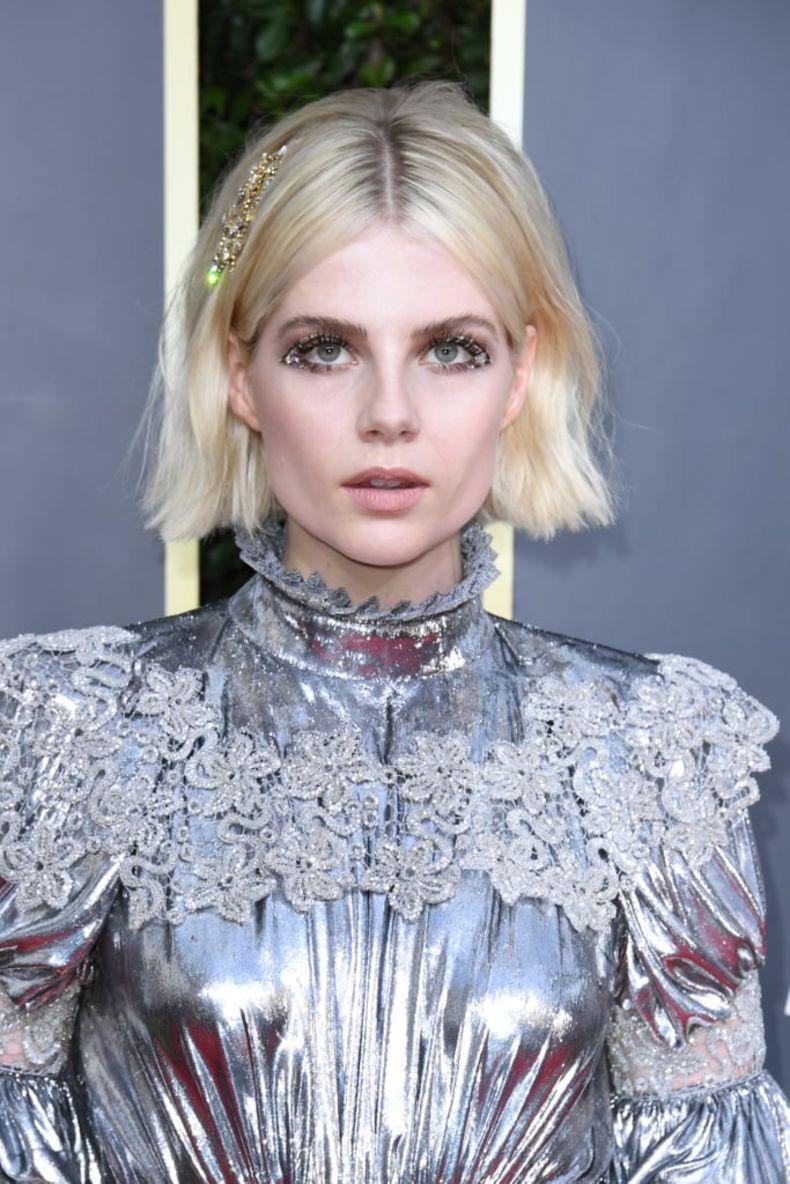 El Maquillaje De Lucy Boynton Para Los Globos De Oro Merecía Su Propia Nominación