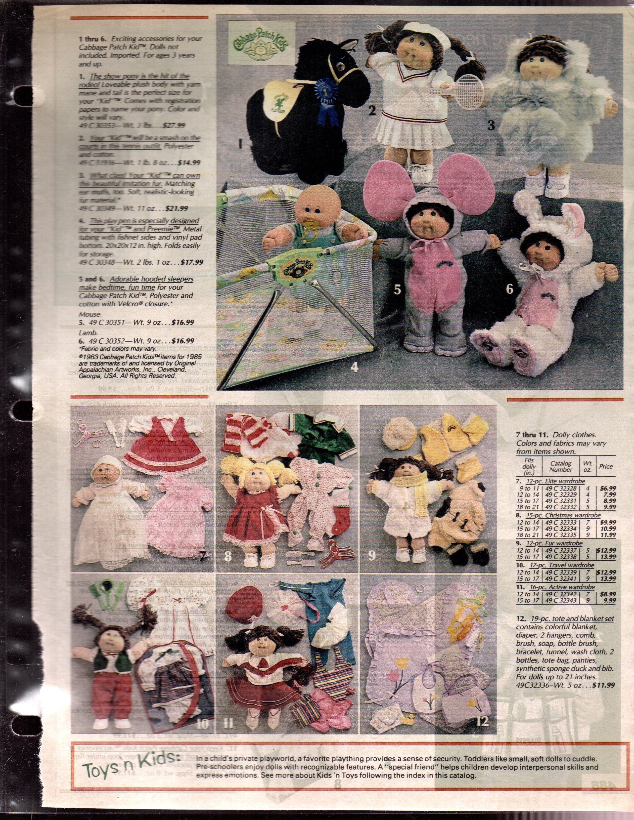 1985 Catalog Page P 487 Of Cabbage Patch Kids Cabbage Patch Kids Cabbage Patch Kids Shows